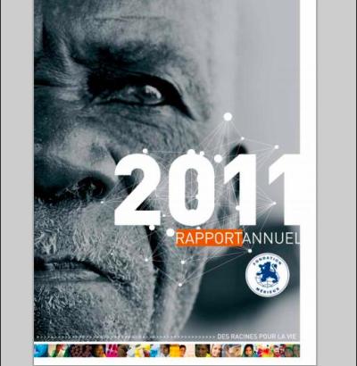 Couverture du rapport annuel de la fondation Mérieux