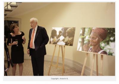 Exposition pour le gala de charité du fond Decitre et de la fondation Mérieux.